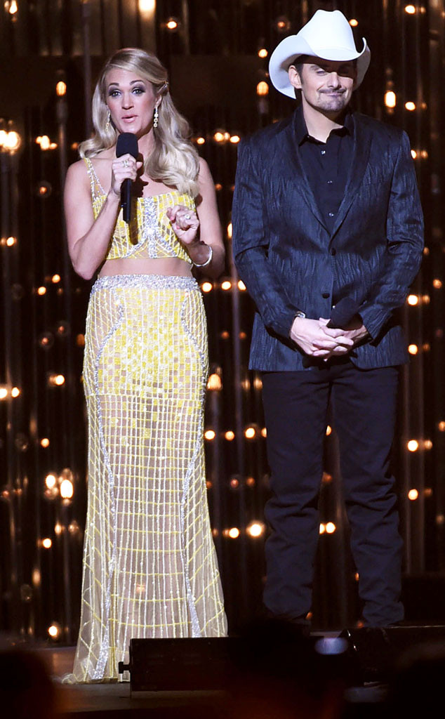 Carrie Underwood, Fashion, CMAs, Yellow Gown