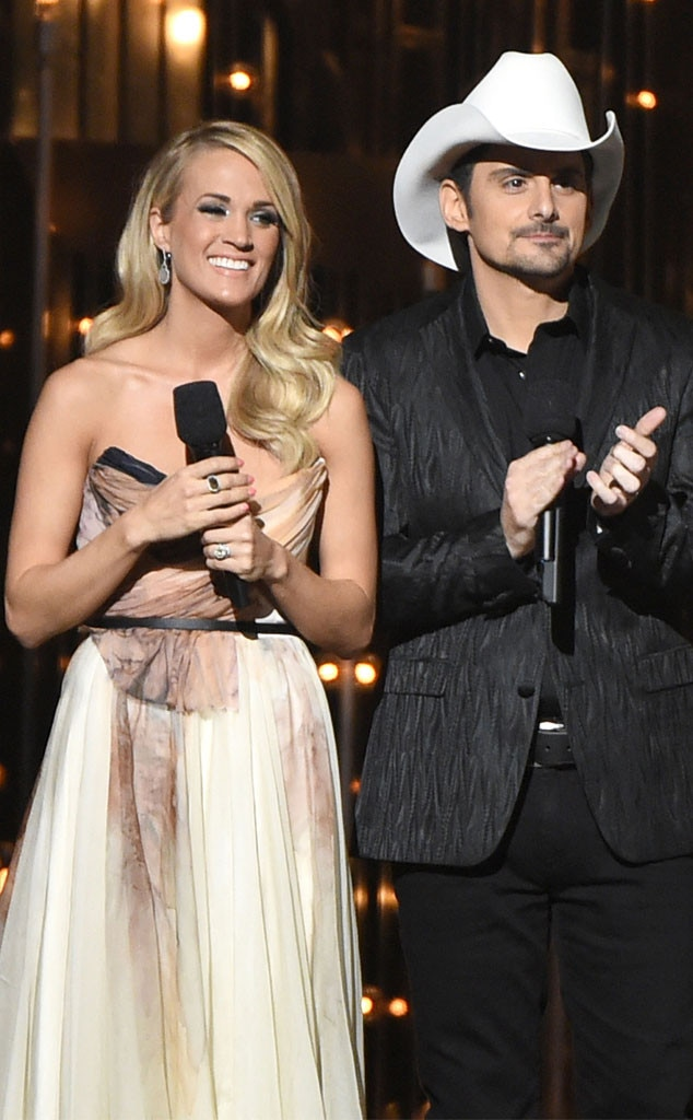 Carrie Underwood, Fashion, CMAs, Blush Chiffon