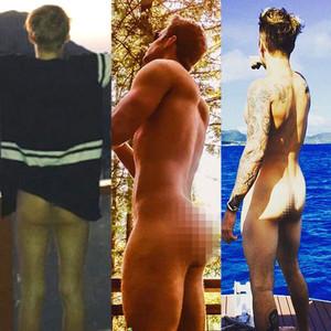 Aaron Carter, Ashley Parker Angel, Justin Bieber, Butt, Instagram