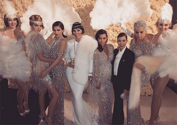 Kris Jenner, Kendall Jenner, Kylie Jenner, Kim Kardashian, Kourtney Kardashian, Khloe Kardashian, 60th Birthday Party