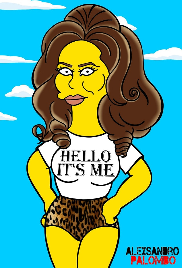 Cartoon Characters Getting High : Adele gets the simpsons treatment e news