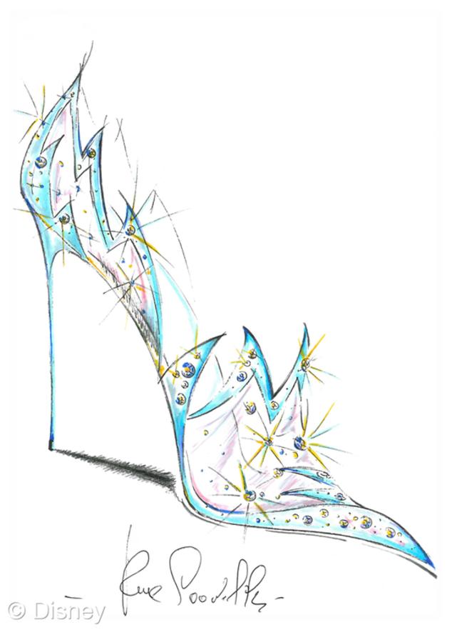 Renee Caovilla, Cinderella Shoes, Disney, Saks Fifth Avenue