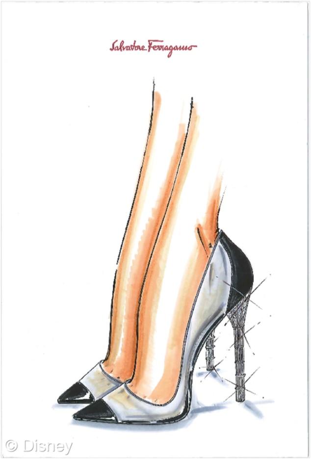 Ferragamo, Cinderella Shoes, Disney, Saks Fifth Avenue