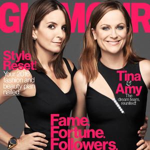 Amy Poehler, Tina Fey, Glamour January Issue