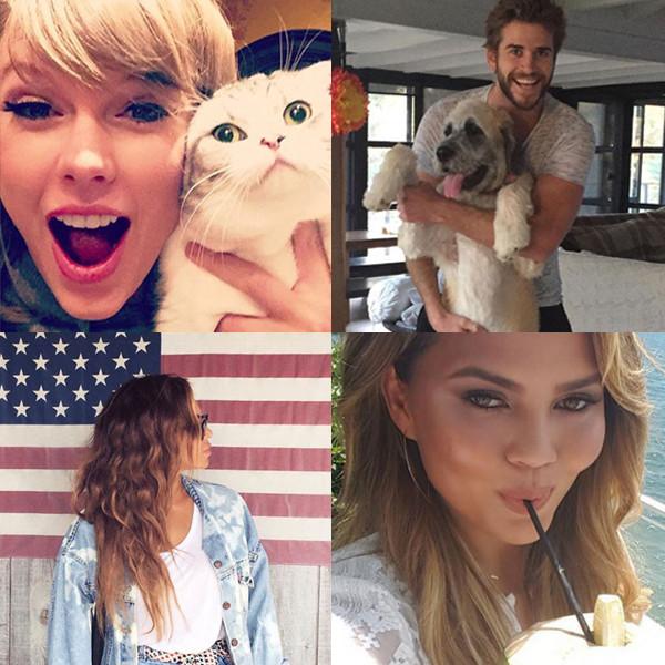 Celebrity Instagrams, Best Of, Liam Hemsworth, Chrissy Teigen, Beyonce, Taylor Swift