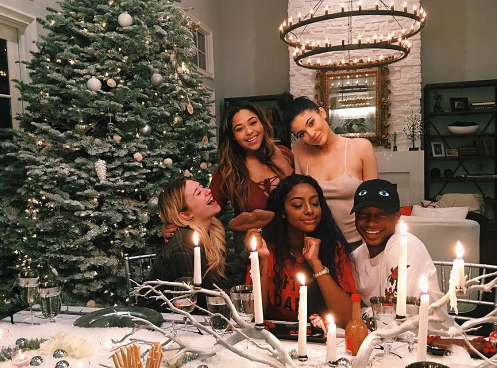 Kylie Jenner Hosts Her First Christmas Dinner Party At Her