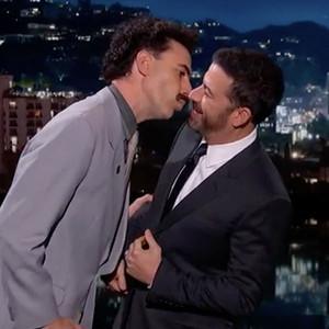 Sacha Baron Cohen, Jimmy Kimmel