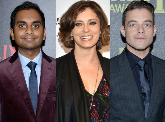 Golden Globes TV Newbies, Aziz Ansari, Rachel Bloom, and Rami Malek
