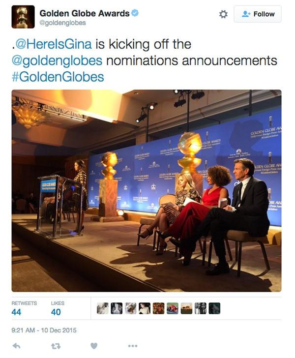 America Ferrera, Golden Globes, Tweet