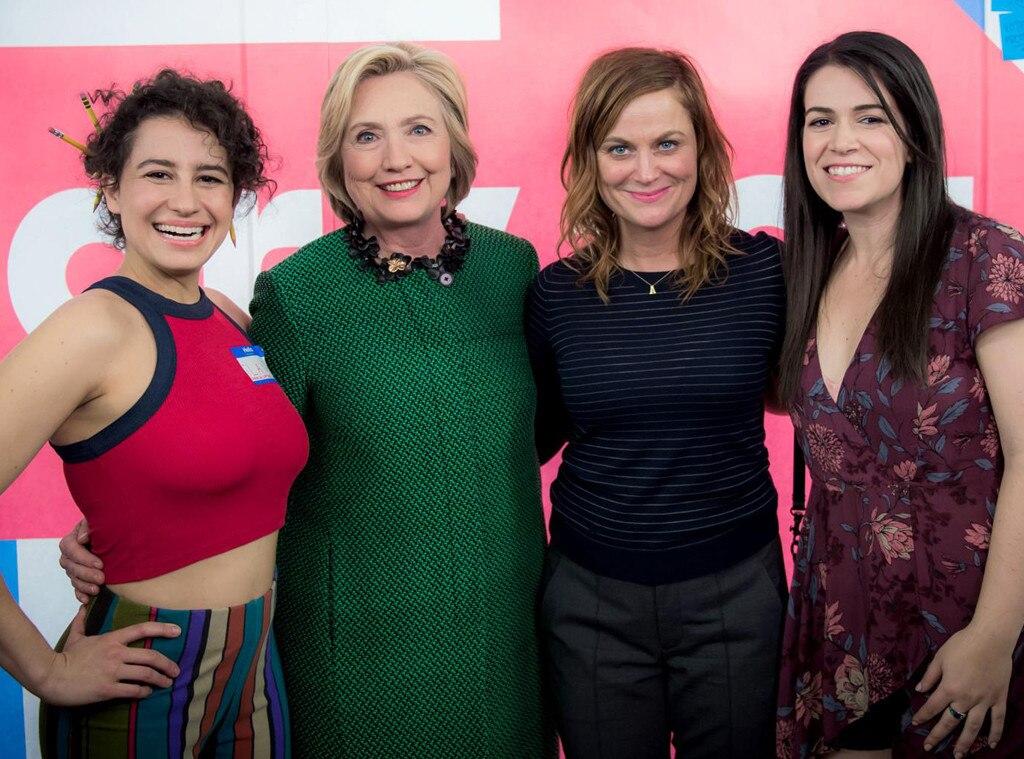 Hillary Clinton, Broad City, Amy Poehler, Ilana Glazer, Abbi Jacobsen