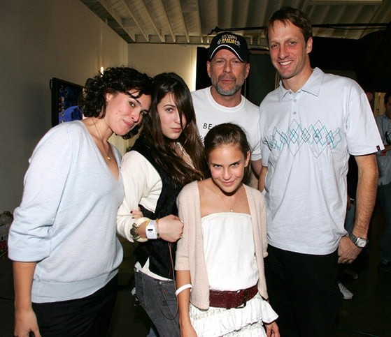 Rumer Willis, Scout Willis, Bruce Willis Tallulah Willis, Tony Hawk