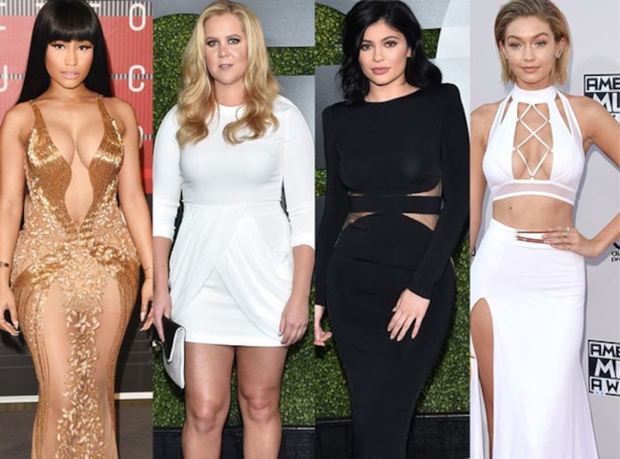 Amy Schumer, Kylie Jenner, Nicki Minaj,Gigi Hadid, Celeb of the Year Poll