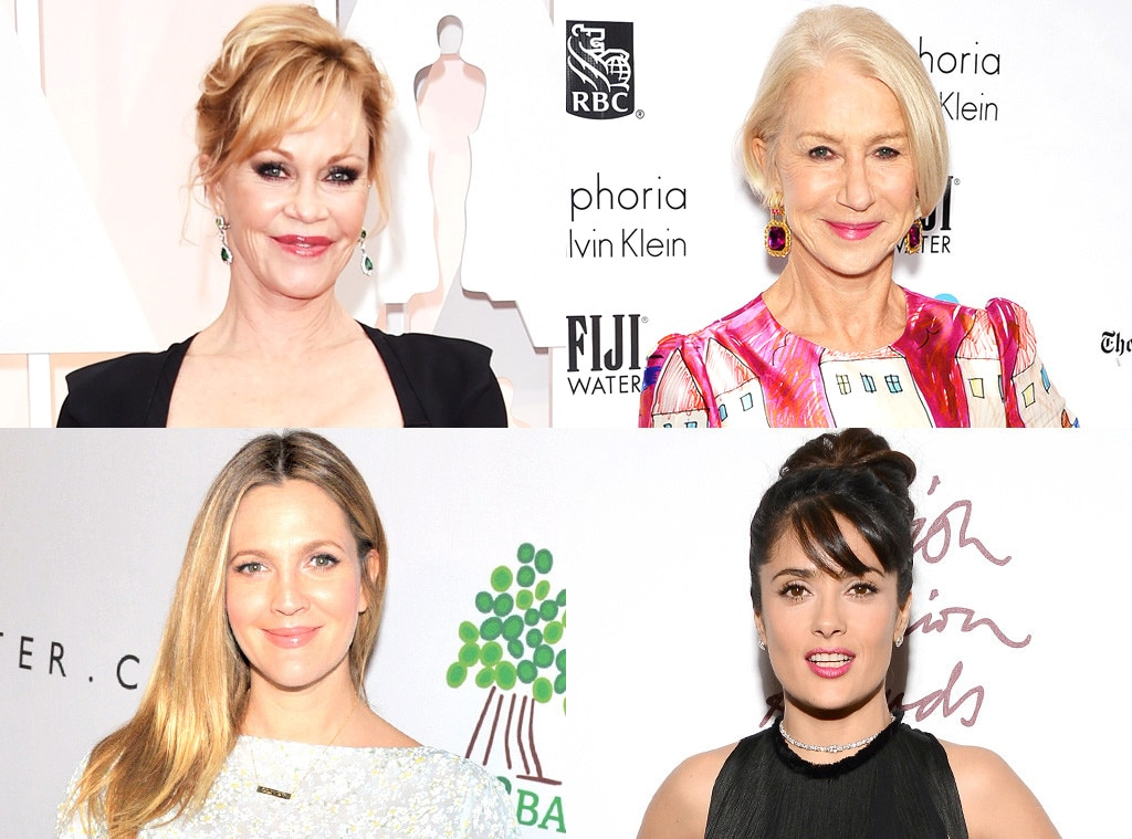 Salma Hayek, Helen Mirren, Drew Barrymore, melanie griffith