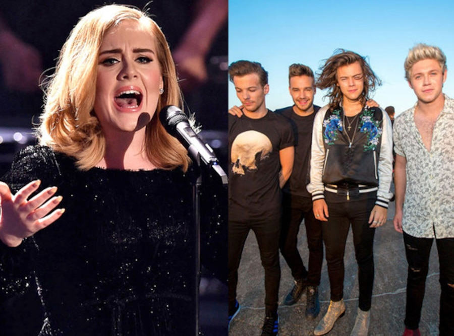 One Direction, Adele, Celeb of the Year poll