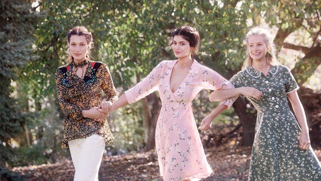 Bella Hadid, Kylie Jenner, Lottie Moss