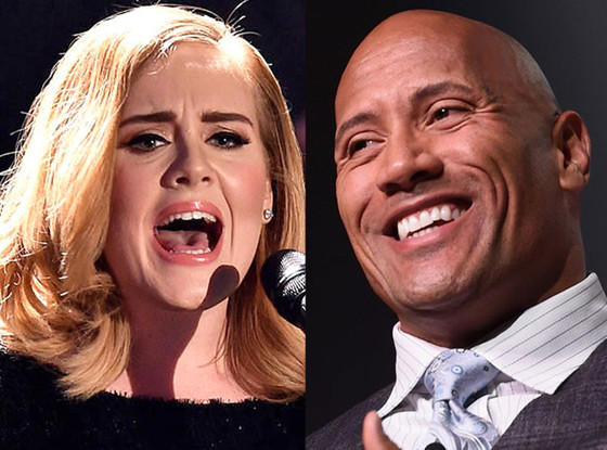 The Rock, Adele, Celeb of the Year poll