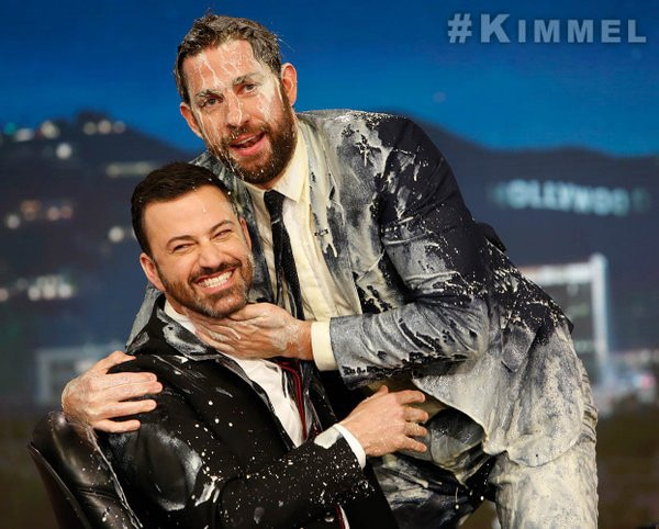 john krasinski and jimmy kimmels christmas prank war has