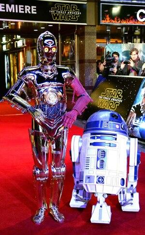 C3PO, R2D2, Star Wars Premiere, London