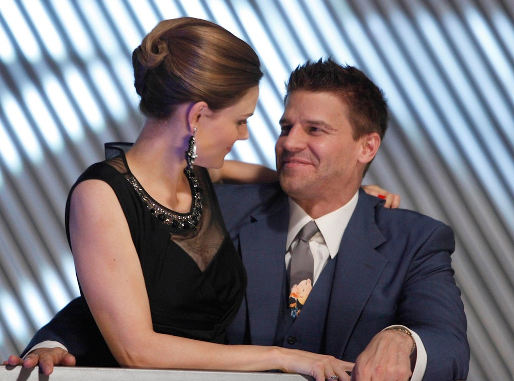 Booth (David Boreanaz) and Brennan (Emily Deschanel ...