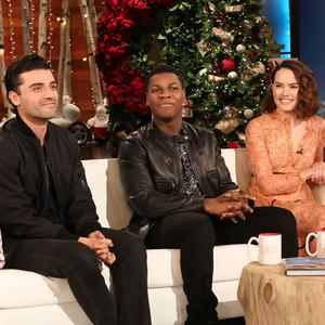 Star Wars, Daisy Ridley, John Boyega, Oscar Isaac, Ellen DeGeneres