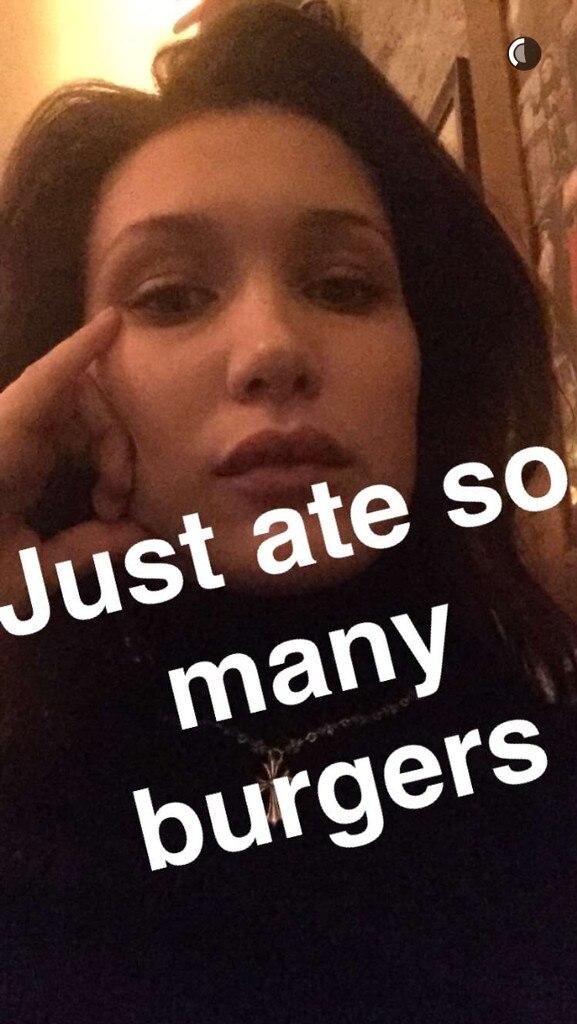 Bella Hadid, Snapchat