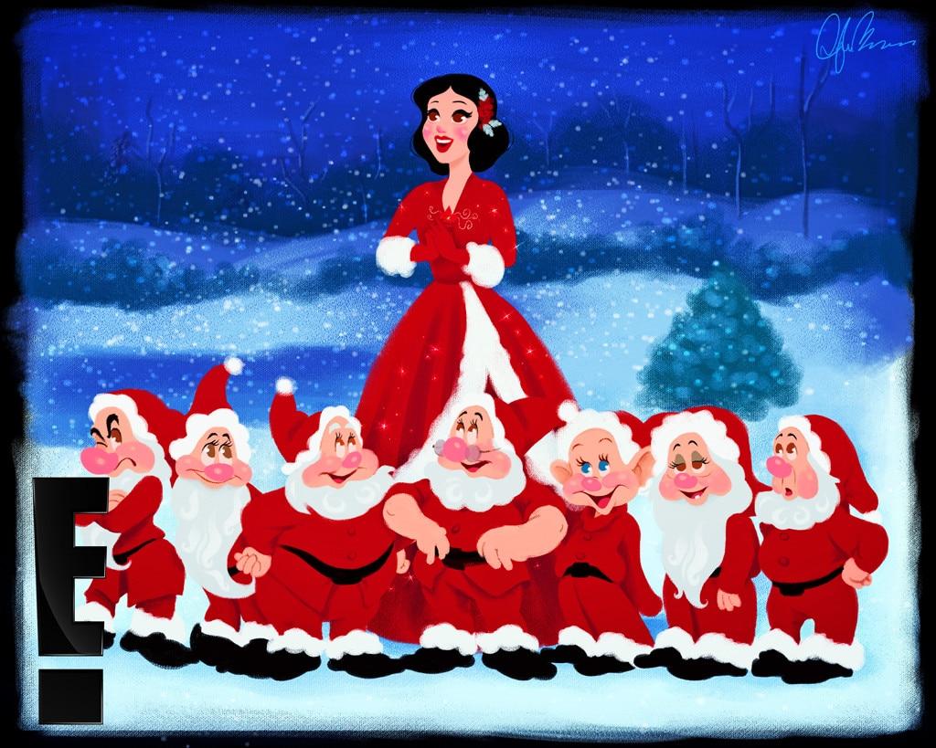 Snow White & the 7 Dwarfs in White Christmas from Disney ...