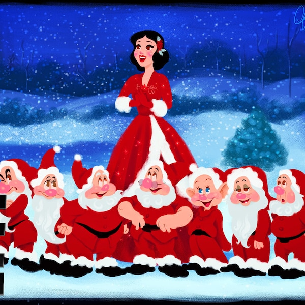 Disney Info Sites: Snow White & The 7 Dwarfs In White Christmas From Disney