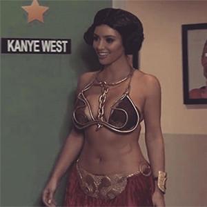 Kim Kardashian, Star Wars, Princess Leia Costume