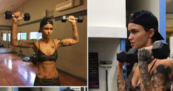 Newly Single Ruby Rose Shows Off Her Toned Bod While