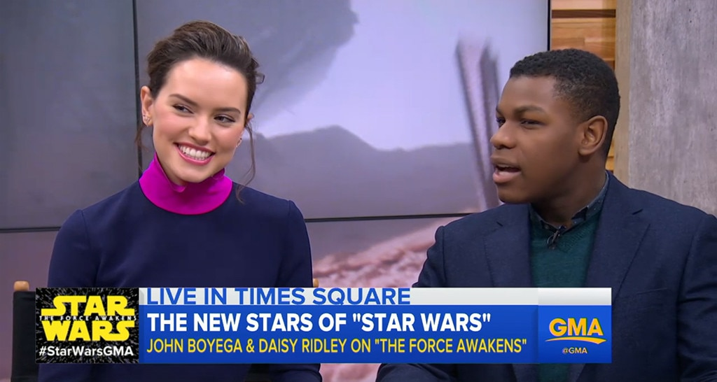 Daisy Ridley, John Boyega, Good Morning America