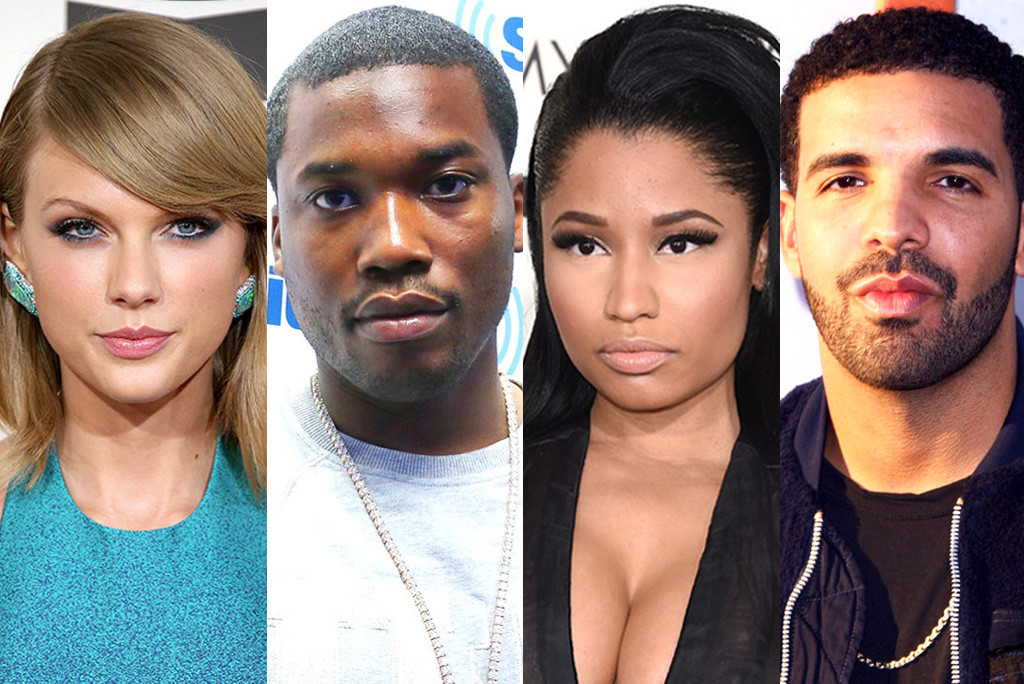 Nicki Minaj, Taylor Swift, Drake, Meek Mill, Twitter Feud