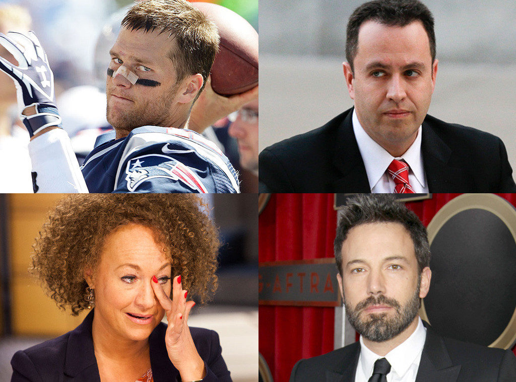 Ben Affleck, Tom Brady, Jared Fogel, Rachel Dolezal, Scandals 2015