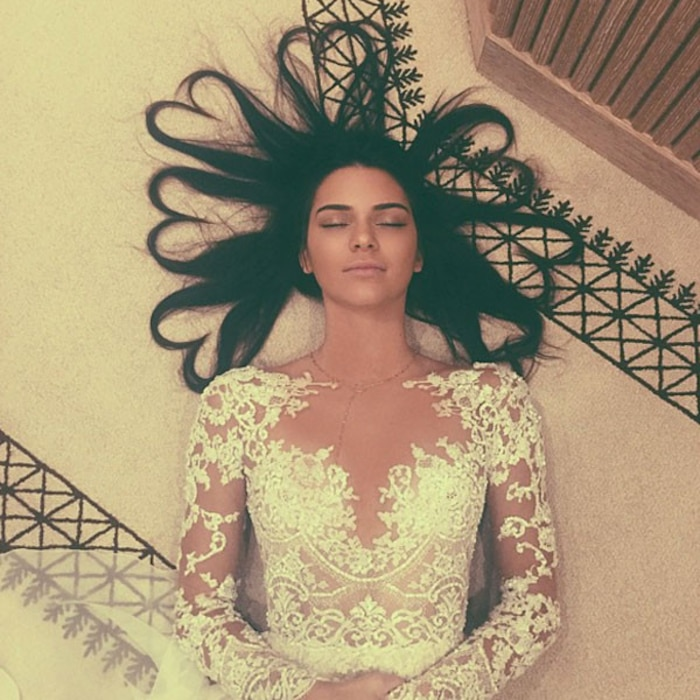 Kendall Jenner, Instagram, Heart Hair