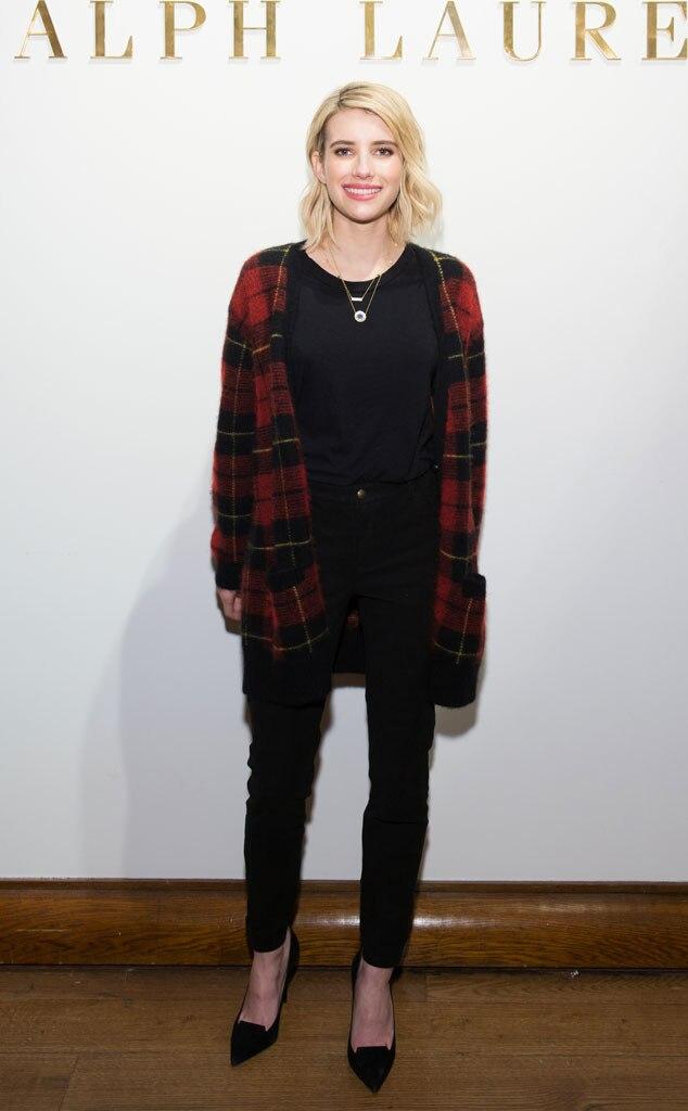 Emma Roberts From Stars At New York Fashion Week Fall 2015 E News