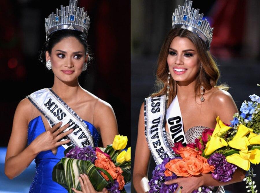 Miss Colombia 2015, Ariadna Gutierrez, Miss Phillipines 2015, Pia Alonzo Wurtzbach, Miss Universe 2015