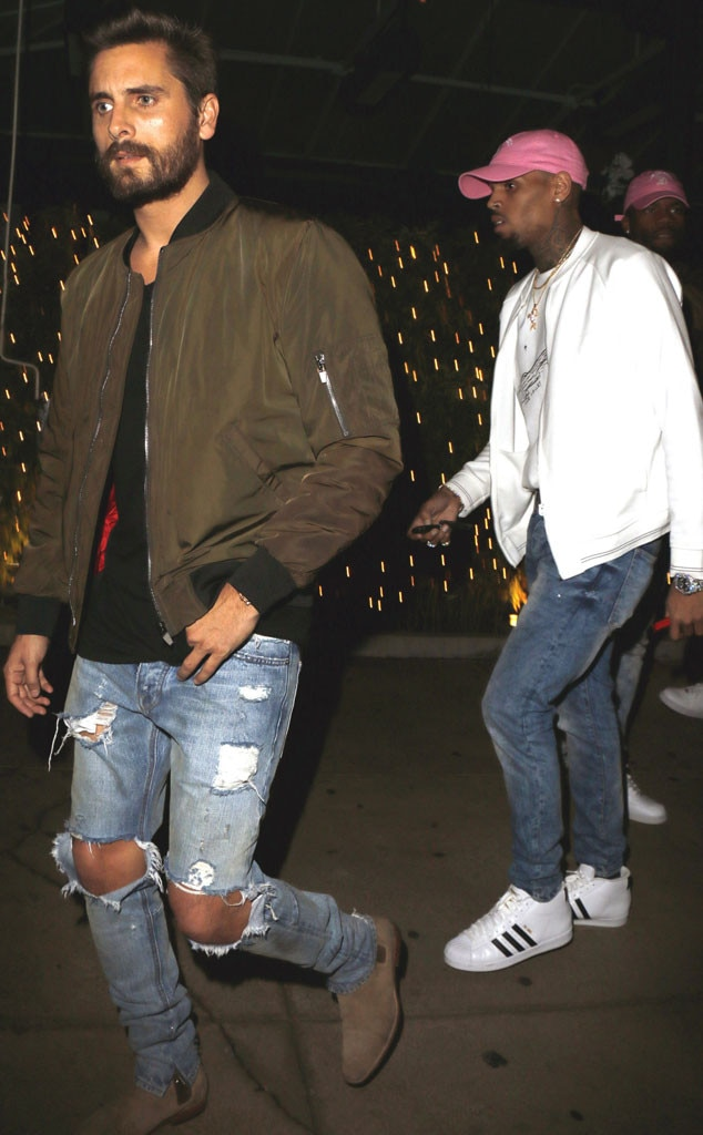 Scott Disick, Chris Brown