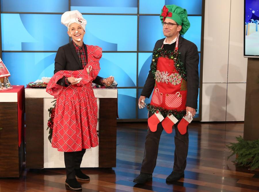 Steve Carell, Ellen DeGeneres, Christmas