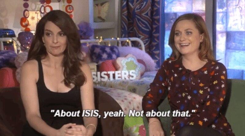 Amy & Tina Sisters Press GIFs