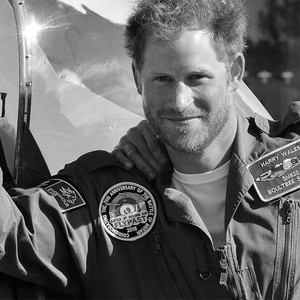 Prince Harry Debuts Black and White 2015 Christmas Card Alongside ...