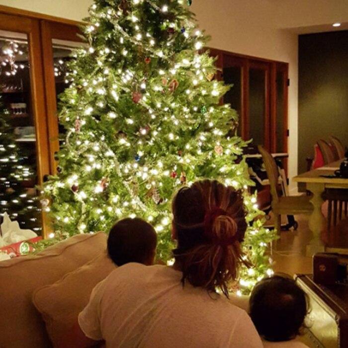 Zoe Saldana, Christmas Tree, Twins