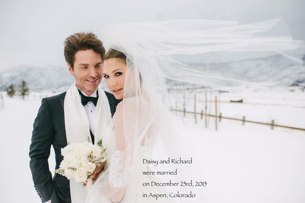 Daisy Fuentes, Richard Marx, Wedding