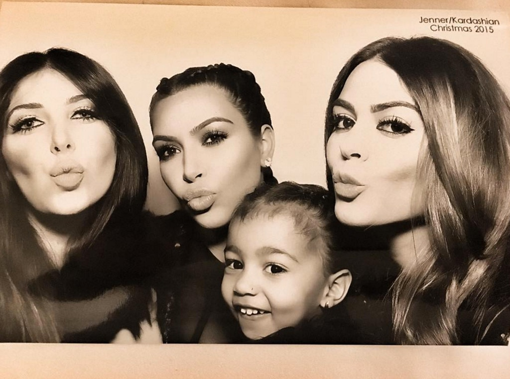 Kim Kardashian, North West, Kardashian Christmas Eve 2015 Party