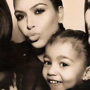 Kim Kardashian, North West, Kardashian Christmas Eve 2015 Party