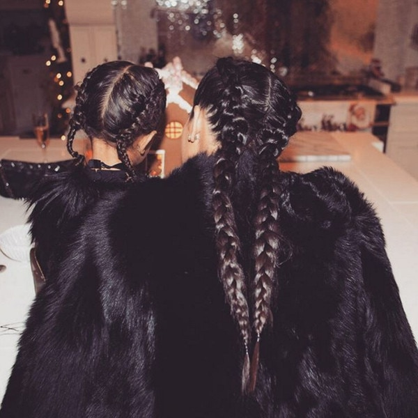 Kim Kardashian, North West, Braided Looks