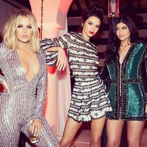 Khloe Kardashian, Kendall Jenner, Kylie Jenner, Christmas Eve Party 2015