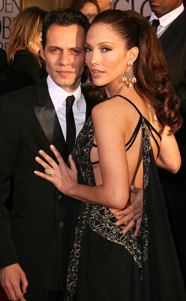 Flashback: Couples at the Golden Globes, Marc Anthony, Jennifer Lopez