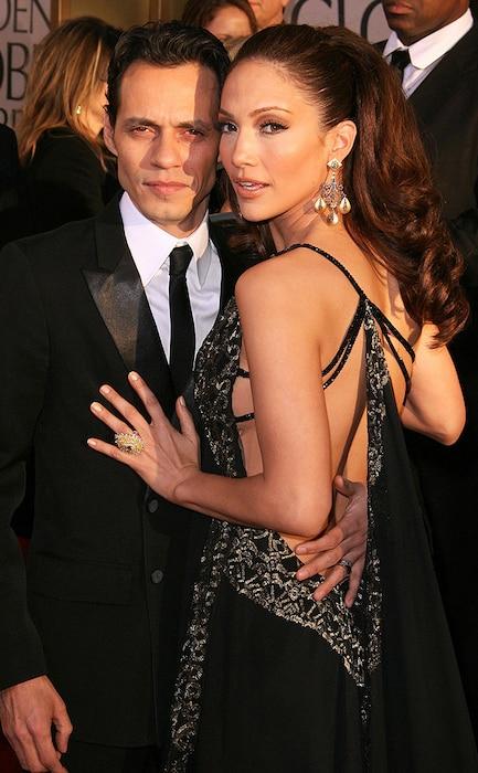 Flashback: Couples at the Golden Globes, Marc Anthony, Jennifer Lopez