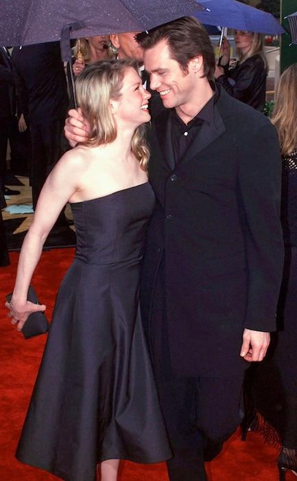 Flashback: Couples at the Golden Globes, Jim Carrey, Renee Zellweger