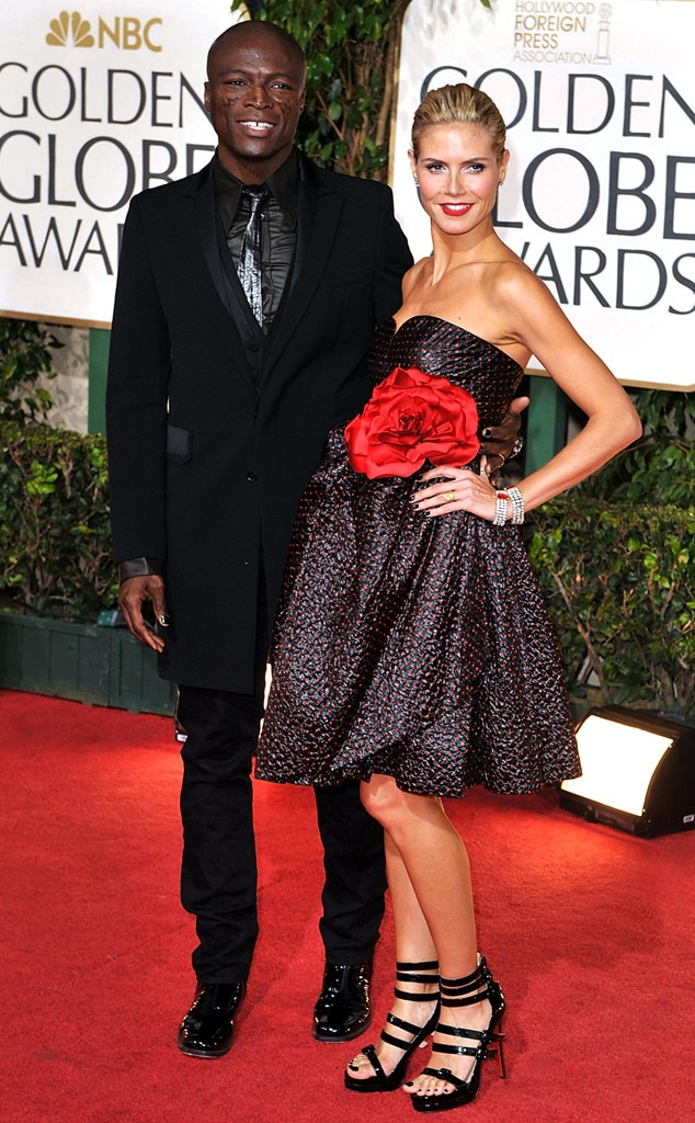 Flashback: Couples at the Golden Globes, Heidi Klum, Seal