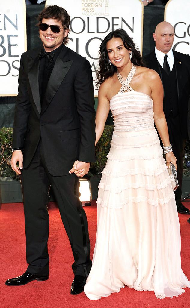 Flashback: Couples at the Golden Globes, Ashton Kutcher, Demi Moore